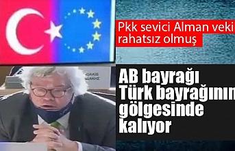 Alman vekil Avrupa Parlamentosu'nda Türk bayrağından rahatsız oldu