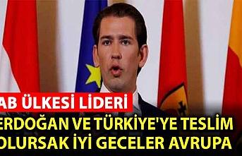Avusturya Başbakanı Kurz'dan küstah çıkış: Erdoğan'a boyun eğemeyiz