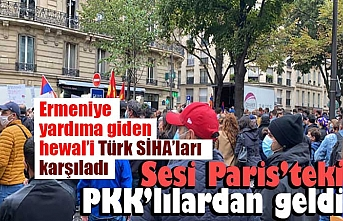 Paris'te PKK'lılardan Ermenistan'a destek