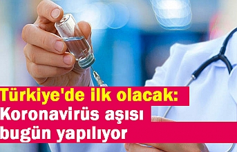 Türkiye'de ilk olacak: Koronavirüs aşısı bugün yapılıyor