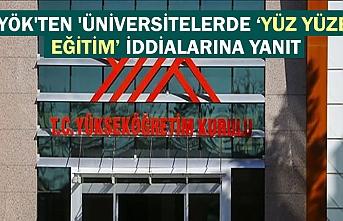 YÖK'ten 'üniversitelerde yüz yüze eğitim' iddialarına yanıt