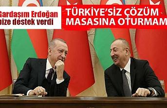 Azerbaycan Cumhurbaşkanı İlham Aliyev: Türkiye, bu sorunun çözümünde mutlaka olmalı