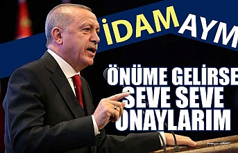 Cumhurbaşkanı Erdoğan: İdama ilişkin düzenleme bana gelirse onaylarım