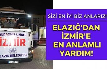 Elazığ'dan depremin vurduğu İzmir'e 1 tır yardım gönderildi