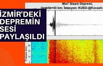 İzmir'deki depremin sesi paylaşıldı