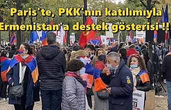 Paris'te terör örgütü PKK'nın katılımıyla Ermenistan'a destek gösterisi