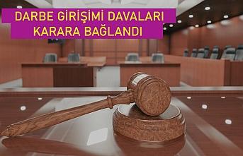 Darbe girişimi davalarının 282'si karara bağlandı, 7'sinde yargılama sürüyor