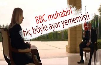 İlham Aliyev'den BBC muhabirine ayar: Siz sadece suçlamayı ve saldırmayı seversiniz