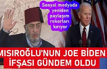 Merhum Kadir Mısıroğlu Joe Biden siyonisttir!
