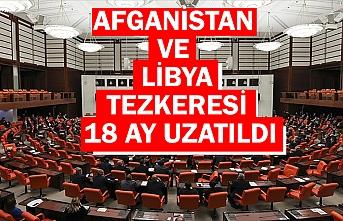 Afganistan ve Libya'ya asker gönderilmesine ilişkin tezkereler TBMM'de kabul edildi
