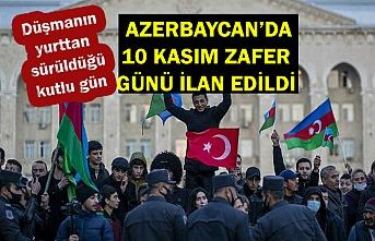 Azerbaycan'da, 10 Kasım 'Zafer Günü' ilan edildi
