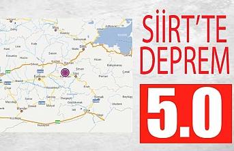 Siirt'te 5.0 büyüklüğünde deprem