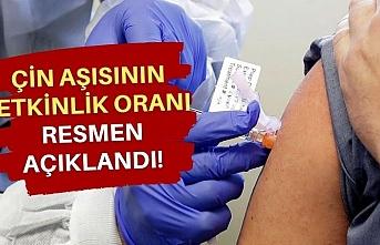 Türkiye'nin de aldığı Çin aşısının etkinlik oranı açıklandı