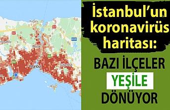 İstanbul'un koronavirüs haritası: Bazı ilçeler yeşile dönüyor