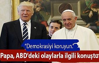 Papa, ABD'deki olaylarla ilgili konuştu