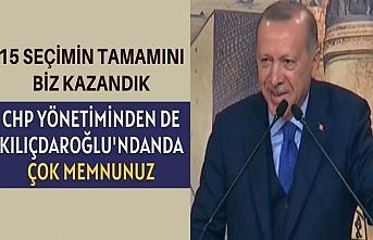 Başkan Erdoğan: Biz bu CHP yönetiminden memnunuz