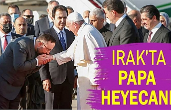 Neçirvan Barzani, Papa'yı karşıladı