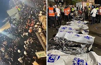 İsrail'de bayram kutlamaları sırasında sahne çöktü