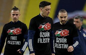Fenerbahçe-Sivasspor maçında Filistin'e destek