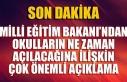 Milli Eğitim Bakanı Ziya Selçuk: Planımızı yaptık...