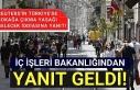 """İçişleri'nden """"Türkiye'de sokağa..."""