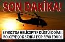 Son Dakika: Beykoz'da helikopter düştü iddiası!...
