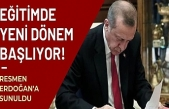 Eğitim Politika Belgesi Taslağı Cumhurbaşkanı Erdoğan'a sunuldu