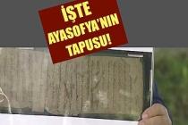Çavuşoğlu, Ayasofya'nın tapusunu gösterdi