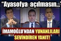 Yunan gazeteci, İmamoğlu'na açıkça sordu: Ayasofya ibadete açılmalı mı?