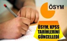 ÖSYM, KPSS tarihlerini güncelledi
