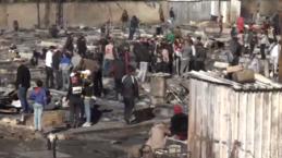 Lübnan'da Suriyeli mültecilerin yaşadığı kampın yakılmasının ardından onlarca aile sokakta kaldı