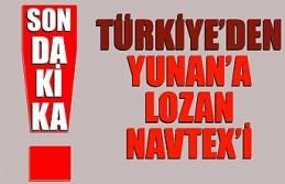 Türkiye, Midilli çevresinde NAVTEX ilan etti