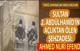 Sultan 2. Abdülhamid'in açlıktan ölen şehzadesi: Ahmed Nuri Efendi