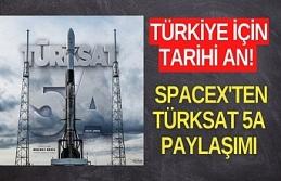 Türkiye için tarihi an! SpaceX'ten Türksat...