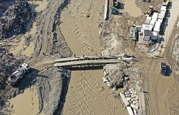 Bozkurt'ta sel ihtimaline karşı kaldırılan seyyar askeri köprü tekrar yerine konuldu
