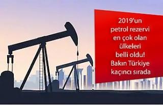 2019'un petrol rezervi en çok olan ülkeleri...