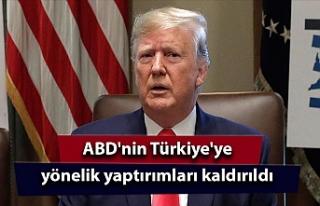 ABD'nin Türkiye'ye yönelik yaptırımları...