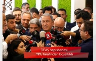 Bakan Hulusi Akar: Bölgemizde tek DEAŞ hapishanesi...