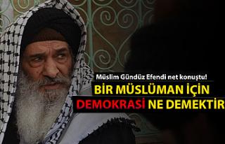 Bir Müslüman için ''Demokrasi''...