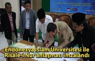 Endonezya İslam Üniversitesi ile Risale-i Nur anlaşması...