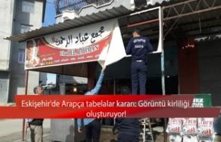Eskişehir'de Arapça tabelalar kararı: Görüntü...