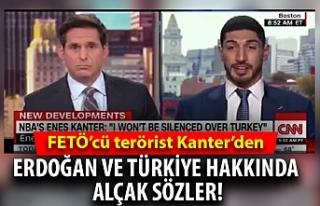 FETÖ'cü terörist Enes Kanter'den Erdoğan...