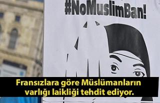 Fransızlara göre Müslümanların varlığı laikliği...