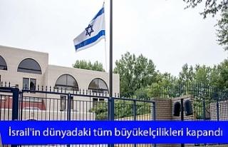 İsrail'in dünyadaki tüm büyükelçilikleri...