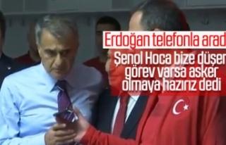 Şenol Güneş'ten Cumhurbaşkanı Erdoğan'a:...