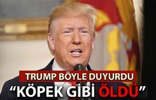 Trump bu sözlerle açıkladı: Bağdadi tünelde...