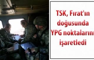TSK, Fırat'ın doğusunda YPG noktalarını...
