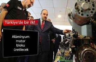 Türkiye'de bir ilk! Alüminyum motor bloku üretilecek