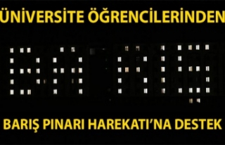 Üniversite öğrencilerinden Barış Pınarı Harekatı'na...