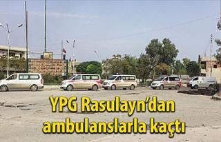 YPG'li teröristler Rasulayn'dan ambulanslarla...